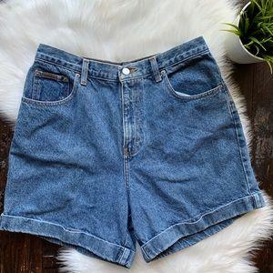 CK Calvin Klein Jeans High Waist Mom Denim Shorts